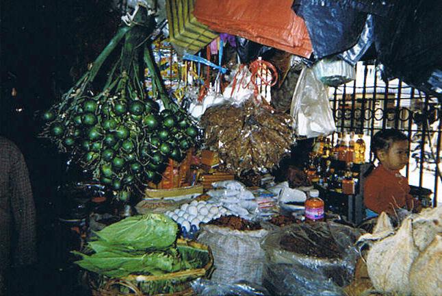 Betelnüsse auf einem Markt in Battambang, Kambodscha