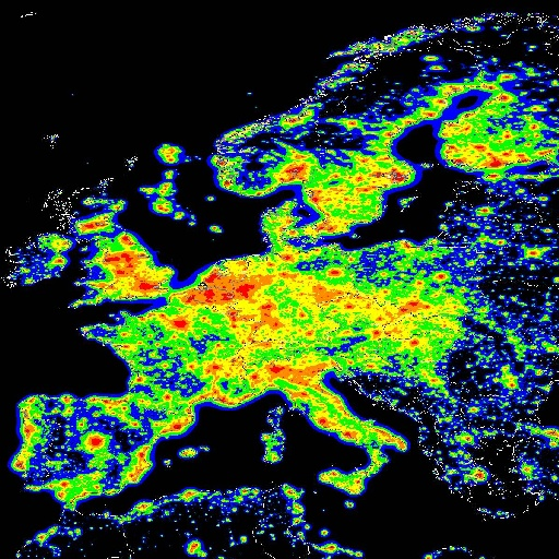 europa bei nacht