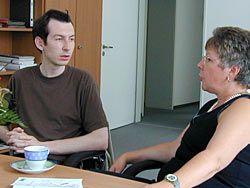Tilmann Holzer bei der Drogenbeauftragten der Bundesregierung, Marion Caspers-Merk.